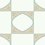 几何壁角框架样式种族瓦片五颜六色的背景v 图库摄影