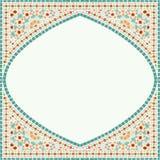 几何壁角框架样式种族瓦片五颜六色的背景v 库存照片