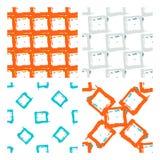 几何多斑点的方形的无缝的样式 免版税库存图片