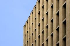 几何大厦的门面 免版税库存图片