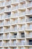 几何大厦阳台 免版税库存照片