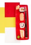 几何寿司 免版税图库摄影