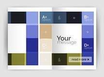 几何小册子a4企业模板 库存图片