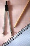 几何工具 免版税库存图片