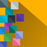 几何平的方形的背景 向量 免版税库存照片