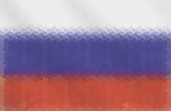 几何形状俄国旗子  也corel凹道例证向量 免版税库存照片