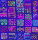 几何形状单图的抽象样式 库存照片