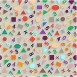 几何形状和图无缝的平的传染媒介  向量例证