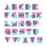 几何形状字母表由跨过的线做成 库存图片