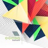 几何形状抽象背景 免版税库存照片