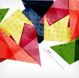 几何形状摘要未来派背景 库存例证