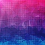 几何形状明亮的五颜六色的抽象背景  库存图片