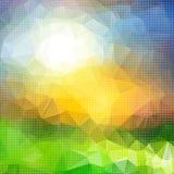 几何形状明亮的五颜六色的抽象背景  免版税图库摄影