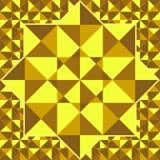 几何形状的金黄样式 金马赛克背景 金子 免版税图库摄影