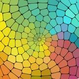 几何形状的颜色不可思议的样式。 库存照片