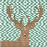 几何形状的鹿图象 库存照片