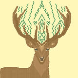 几何形状的鹿图象 库存图片
