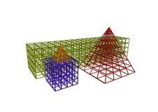 几何形状4 向量例证