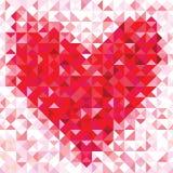 几何心脏的无缝的爱样式 免版税库存图片