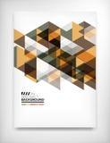 几何抽象企业模板 免版税库存图片