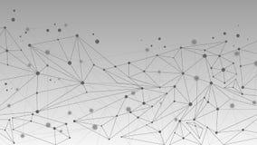 几何抽象分子和通信背景 库存图片