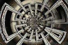 几何抽象复杂迷宫 免版税库存图片