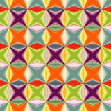 几何抽象多色彩的无缝的样式 免版税库存图片