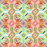 几何抽象多色彩的镶边无缝的p 免版税图库摄影
