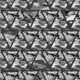 几何抽象无缝的camo 免版税库存照片