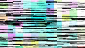 几何抽象的构成 小故障噪声录影 库存例证