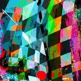 几何抽象的构成 免版税库存照片