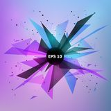 几何抽象的背景 10个背景设计eps技术向量 图库摄影