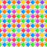 几何抽象的背景 五颜六色的无缝的纹理 免版税图库摄影