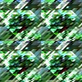 几何抽象的背景 几何形状用绿色和蓝色不同的树荫,白色 免版税库存图片
