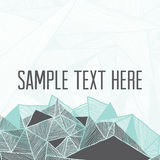 几何抽象的背景 您的文本的方形的框架 库存照片