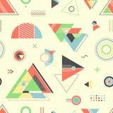 几何抽象的背景 模式无缝时髦 免版税图库摄影