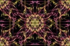 几何抽象的背景 abstact艺术深深数字式红色转动 库存例证
