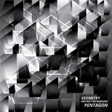 几何抽象背景样式Pantagon传染媒介例证 免版税库存图片