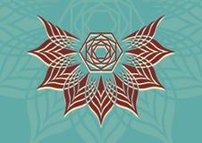 几何抽象背景 徽标 免版税库存图片