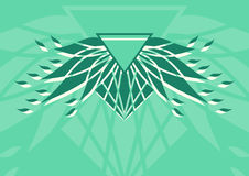 几何抽象背景 徽标 库存图片