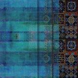 几何抽象破旧的色的背景 免版税库存照片