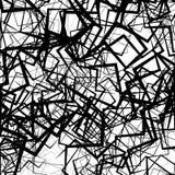 几何抽象派 锋利,有角概略的纹理 黑白照片, 库存例证