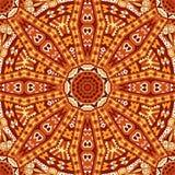 几何无缝的印地安秋天样式 皇族释放例证