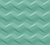 几何无缝的反复弯曲的波动图式 向量例证