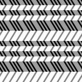 几何无缝的平的样式, 3d幻觉。 免版税库存照片