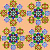 几何无缝的形状纹理 库存照片