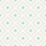几何无缝的样式、菱形和雪花 免版税库存照片