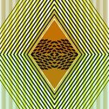 几何无缝的样式的例证设计的 灰色和黄色带,菱形,与大理石的三角 设计  免版税库存照片