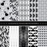 10几何无缝的样式背景的汇集 库存照片