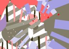 几何无缝的样式,几何元素 库存例证